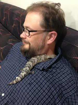 The sweetie and a lizard