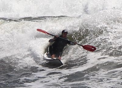 Potty surf skiing