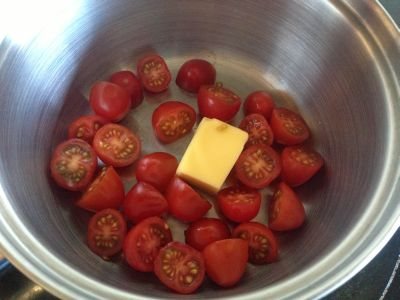 Tomatoes in butter