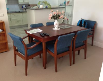 Refurbished dining suite