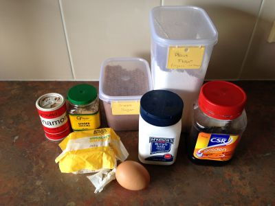 Gingerbread ingredients