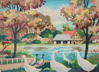 Paint by numbers ducks