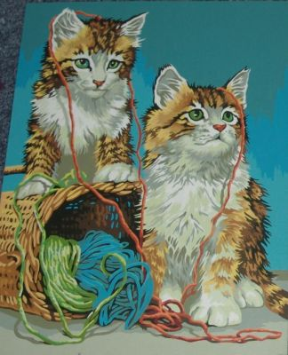 Paint by numbers kittens