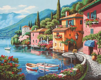 Paint by numbers - Lakeside Village