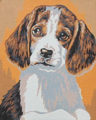 Paint by numbers puppy