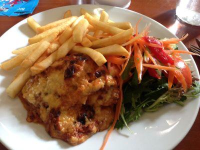 Railway cafe lasagna