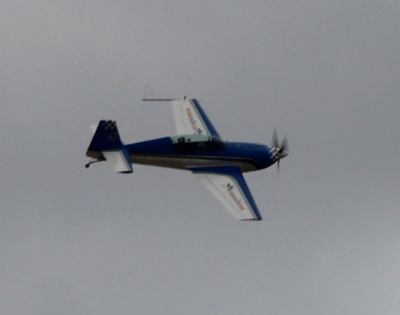 Little blue stunt plane