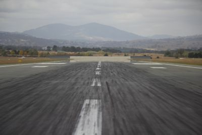Crossing runway 35