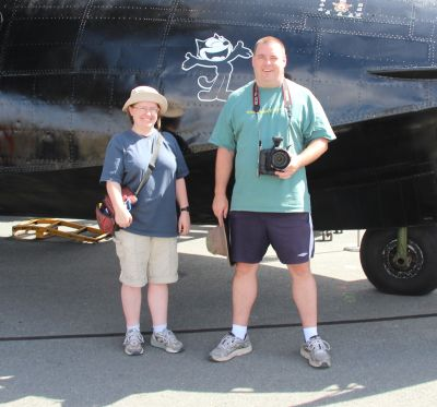 Me and David next to the Catalina