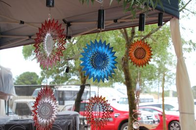 Pretty spinny things.  The coloured ones are imports from overseas, but I bought one made by an Australian lady