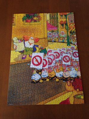 Chicken protest jigsaw