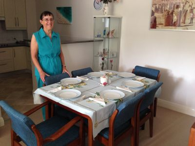 Mum and the table