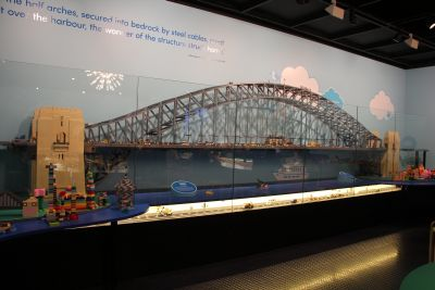 Sydney Harbour Bridge in Lego