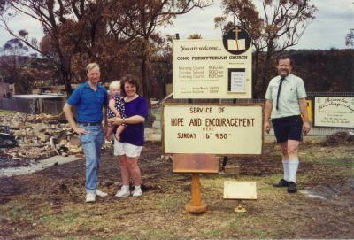 Como 1994 bushfires - open air service