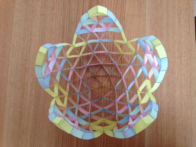 Four frequency icosahedron half way