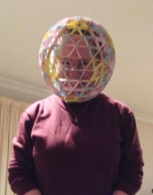 Four frequency icosahedron helmet