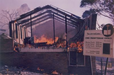 Como Presbyterian Church January 1994 bushfires