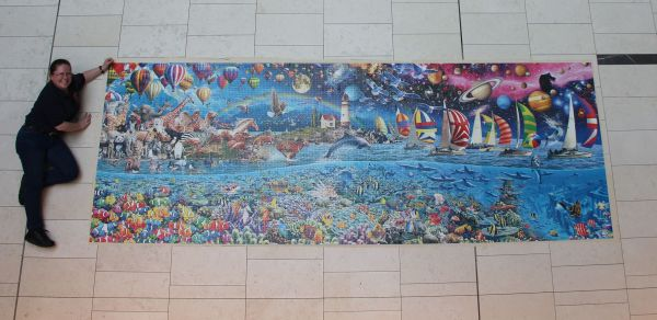 Life 24000 piece jigsaw completed