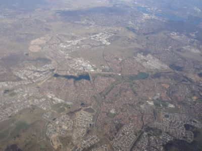 Northern Canberra from the air