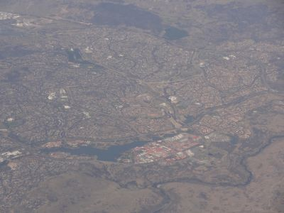 Tuggeranong from the air