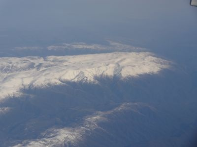 Snowy Mountains from the air