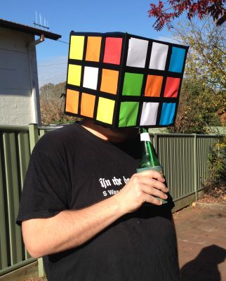 Stu went as a cube