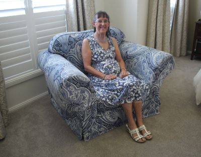 Mum blue chair