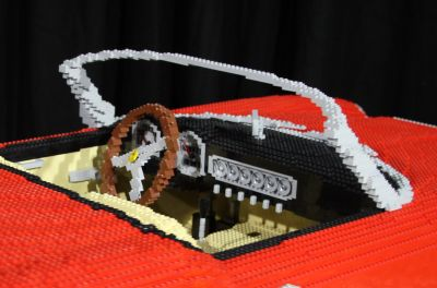 1961 Ferrari made of Lego
