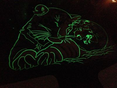 Glow in the dark tiger jigsaw