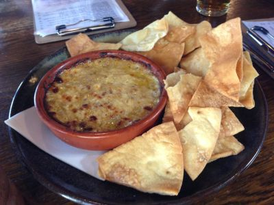Lake George cheese and bacon dip