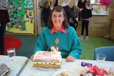 Mum and her cake