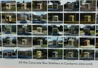 All Canberra Bus Shelters, seen at Proframing