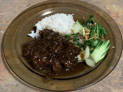 Asian style beef cheeks