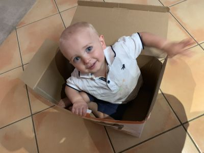 Kid in a box!