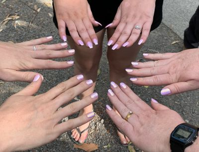 Chloe's, Katie's and my nails