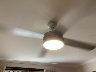 Bedroom fan light replaced