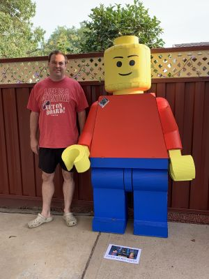 David at the Ngunnawal Lego show