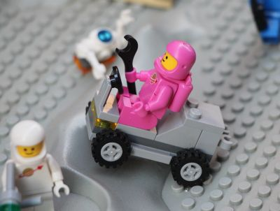 Pink Lego Space minifig