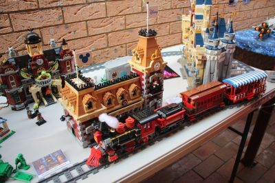Disney train station and train