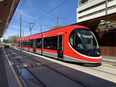 Tram in Civic