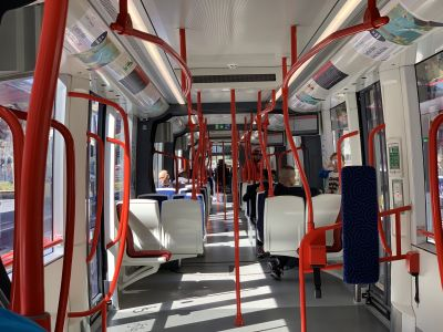 Interior of the tram