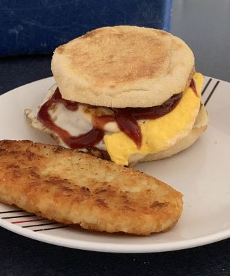 Turkey egg and bacon mcmuffins