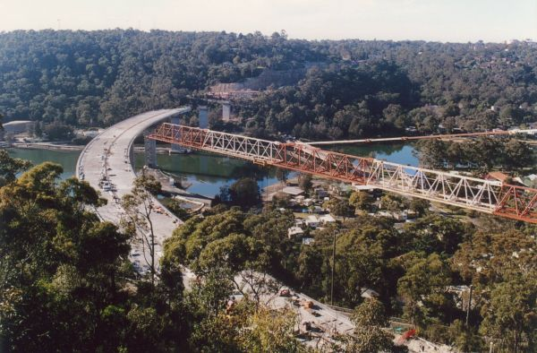 Woronora Bridge construction