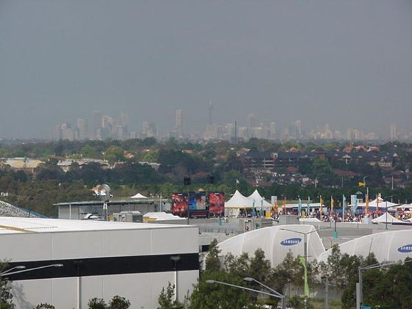 View to Sydney from Sydney Olympic Park