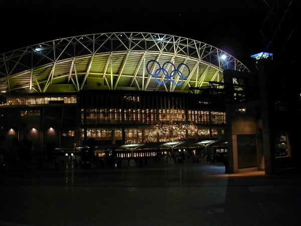 Sydney Olympic Park at night