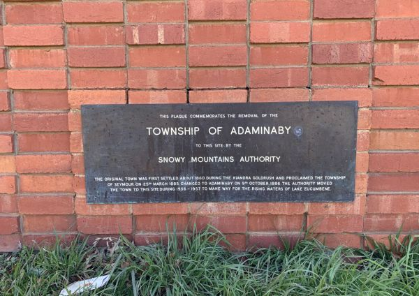 Adaminaby plaque - 2020