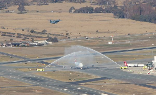 Water canon salute