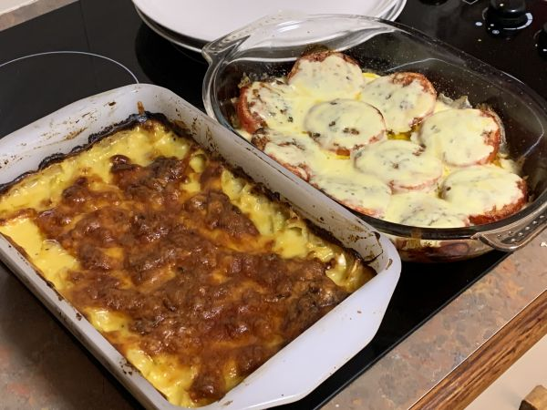 Cabbage bake and tomato bake