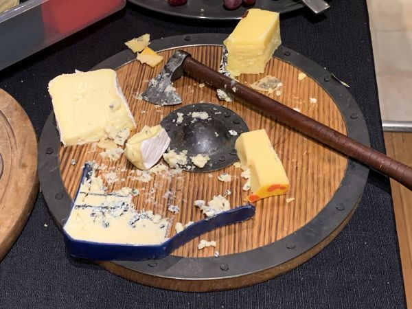 Funky cheese board