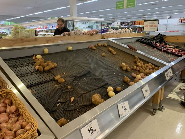 Corona virus panic buying - potatoes